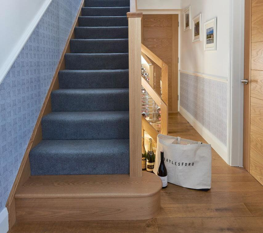 Bespoke Under Stairs Shelving: Feature Steps And Under Stair Storage