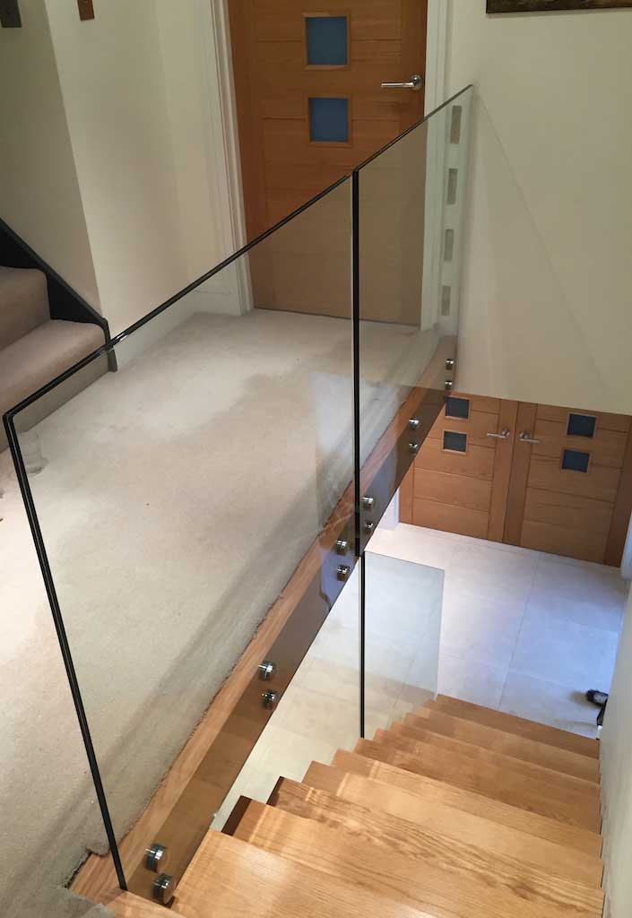 Lighting Basement Washroom Stairs: Contemporary Glass Staircases
