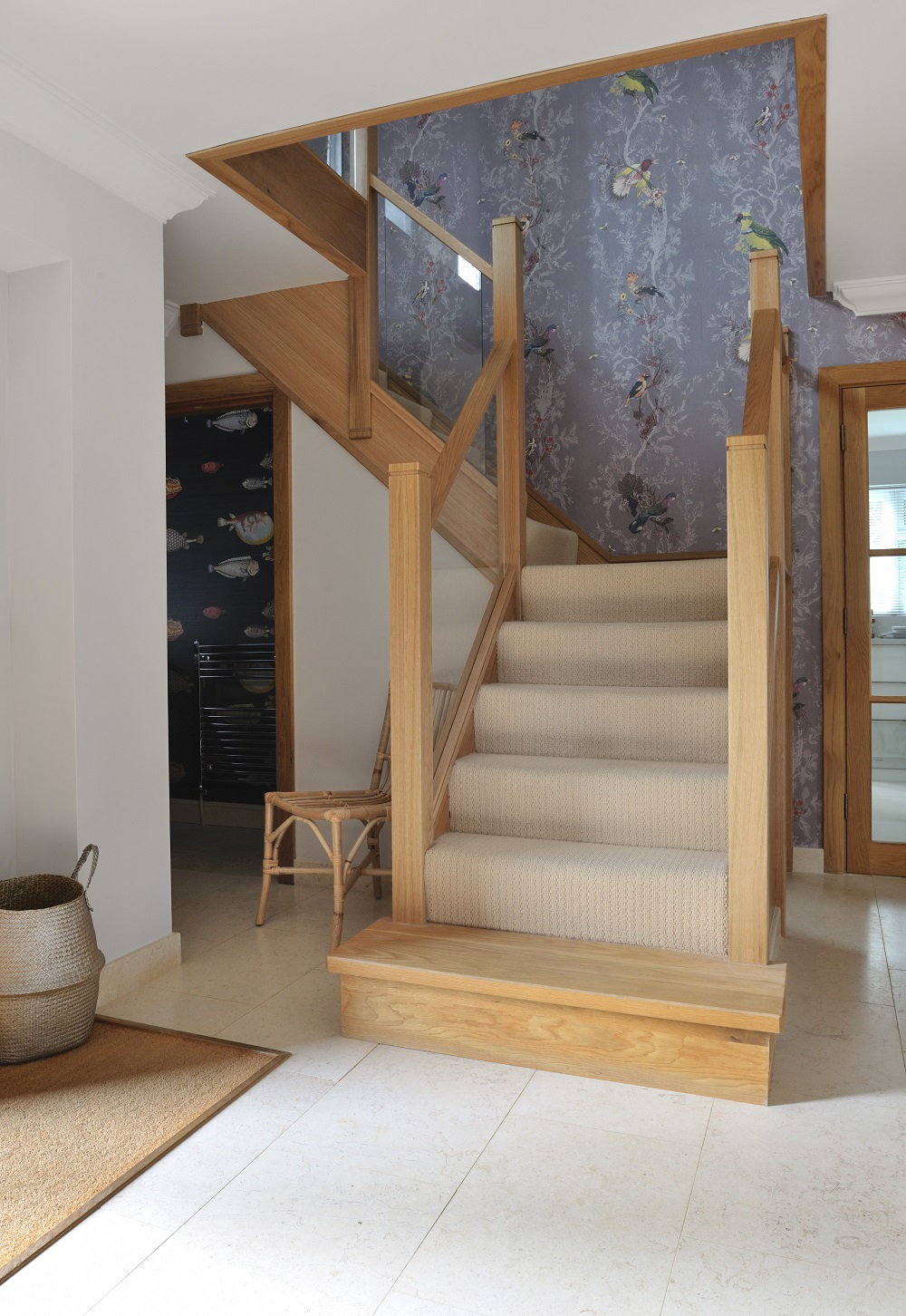 Modern Oak And Glass Staircases Jarrods Staircases