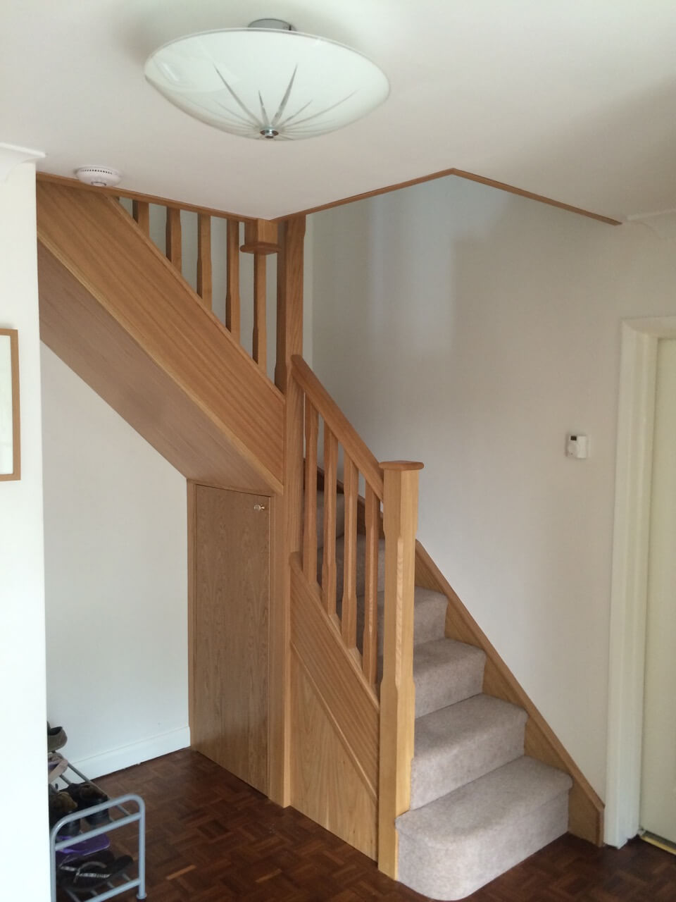 Renovating Spiral Staircases after image (kite-winder)