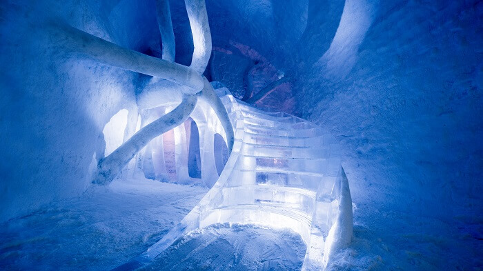 Ice Hotel Staircase