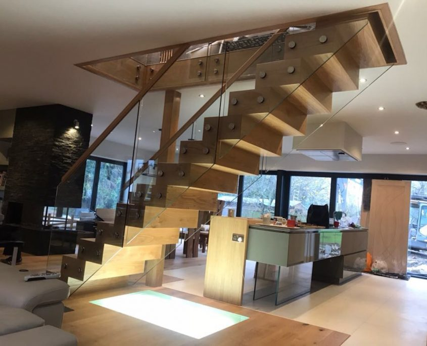 bespoke floating staircase