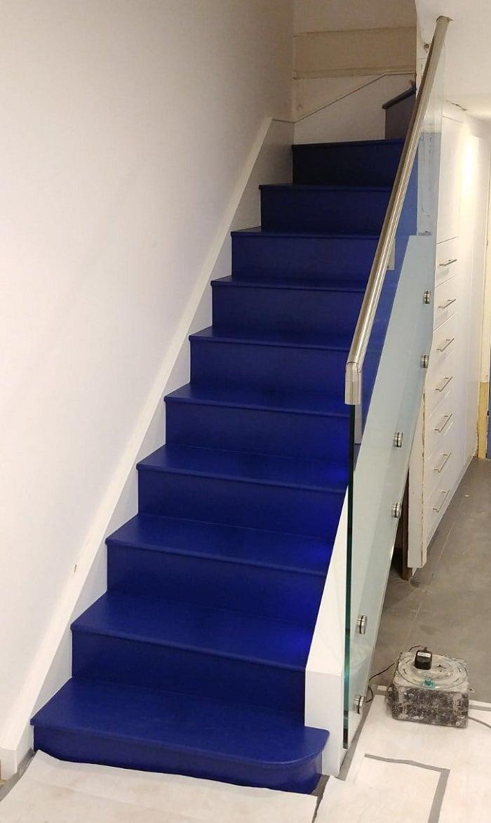 Blue staircase design