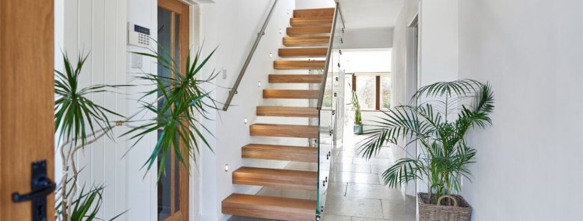 home inspiration floating staircase
