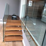 glass interior floating staircase