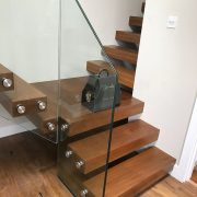 corner floating staircase