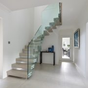 Image result for floating glass staircase